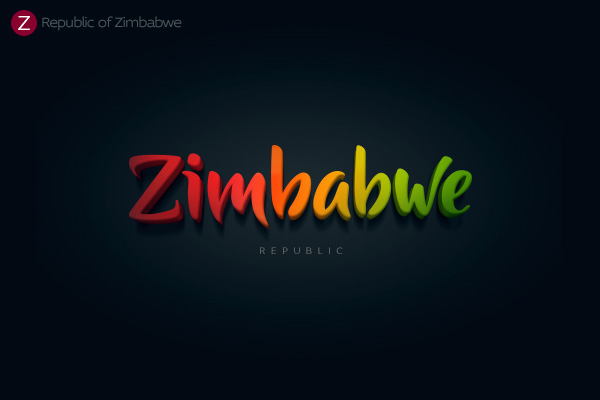 Alphabet of the Countries - Hand-lettered logo of Zimbabwe