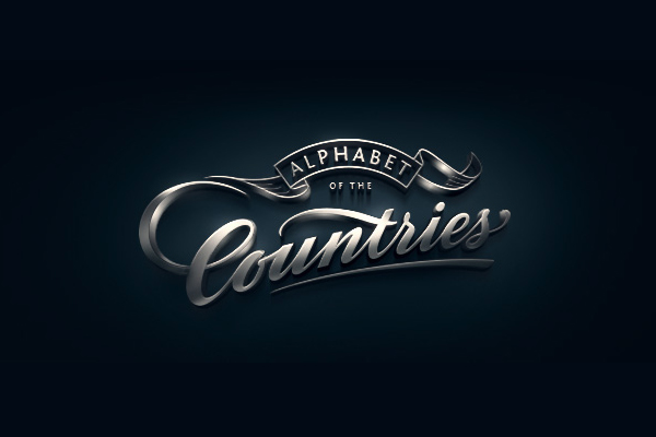Alphabet of the Countries - Hand-lettered logos
