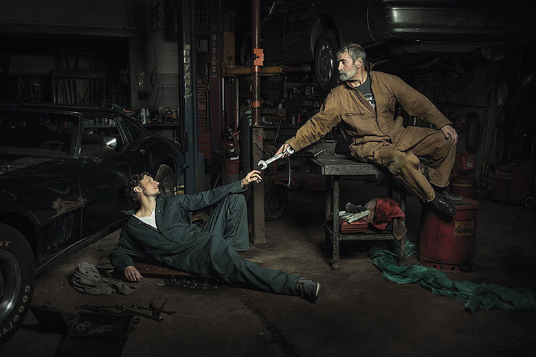 Auto Mechanics Renaissance Paintings by Freddy Fabris (1)