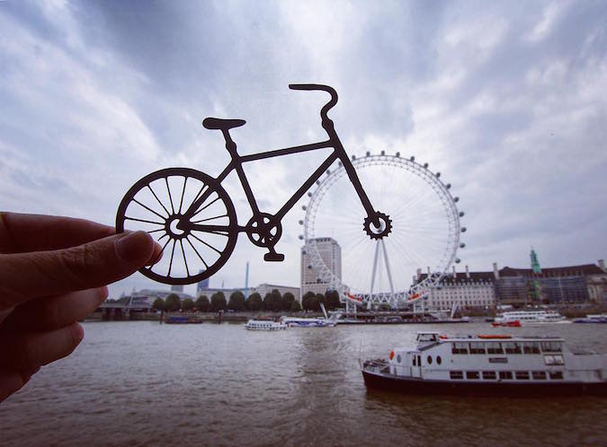 Paper Cutouts On Famous Landmarks - London Eye