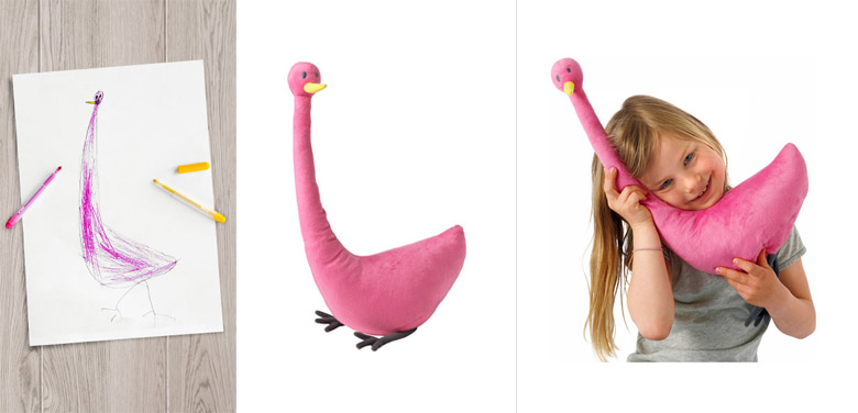 Ikea turned children 39 s drawings into real soft toys to for Ikea children toys
