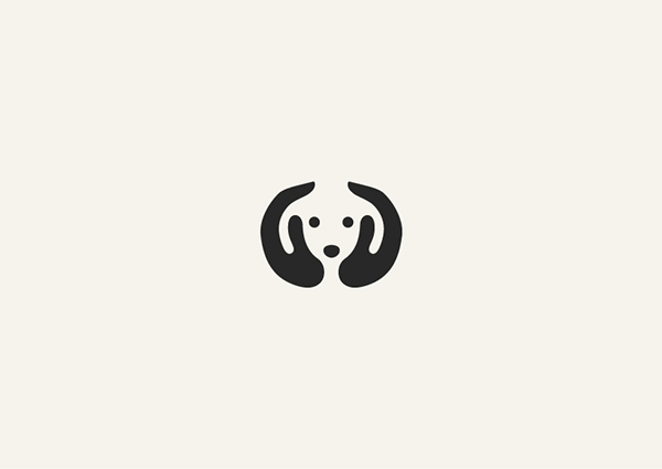 Negative Space Animals Logos: Dog