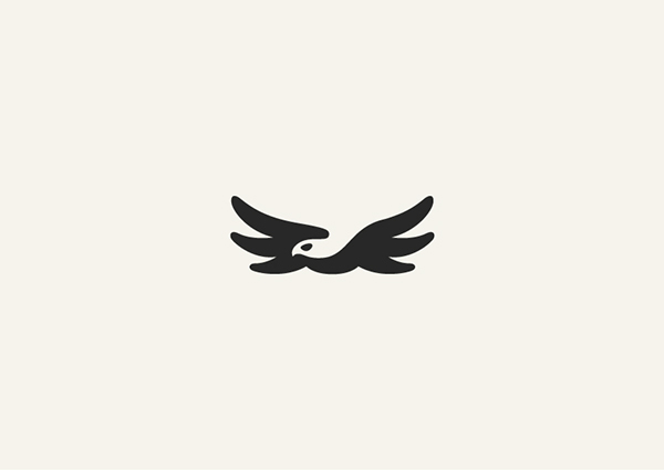 Negative Space Animals Logos: Bird