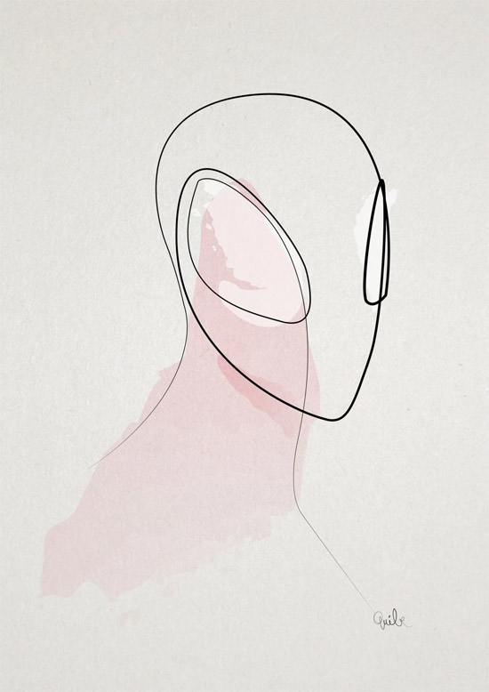 Quibe One Line Minimal Illustrations - Web Slinger