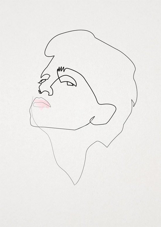 Quibe One Line Minimal Illustrations - Madonna