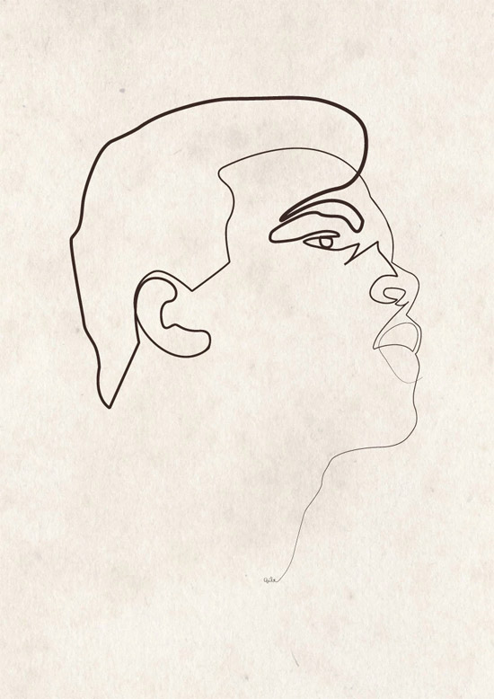 Quibe One Line Minimal Illustrations - Muhammad Ali