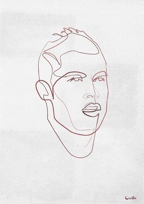 Quibe One Line Minimal Illustrations - Cristiano Ronaldo