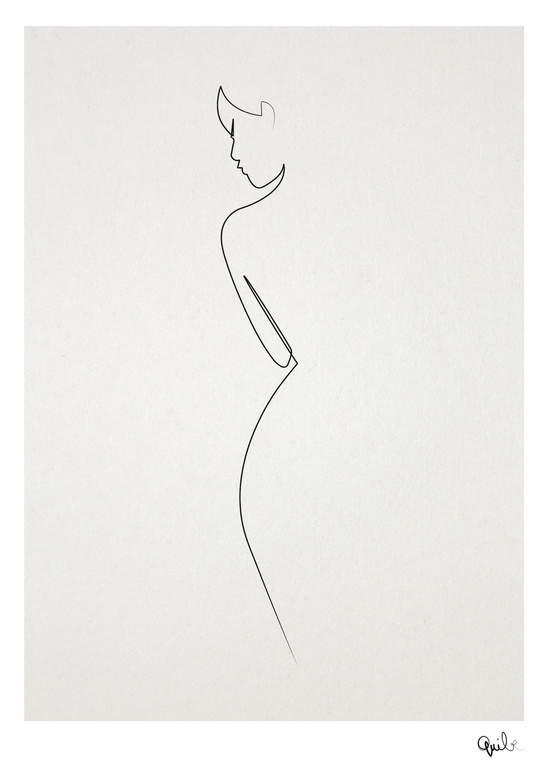 Quibe One Line Minimal Illustrations - Woman