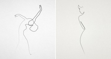 Amazing One-Line Illustrations Made With A Single, Continuous Pencil Stroke