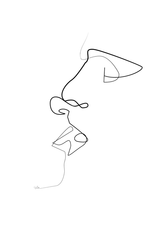 One Line Drawing Quibe : Amazing one line illustrations made with a single