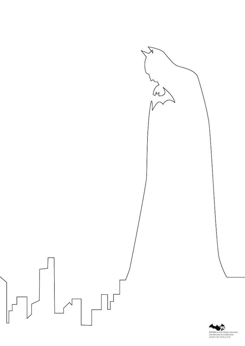 Quibe One Line Minimal Illustrations - Batman