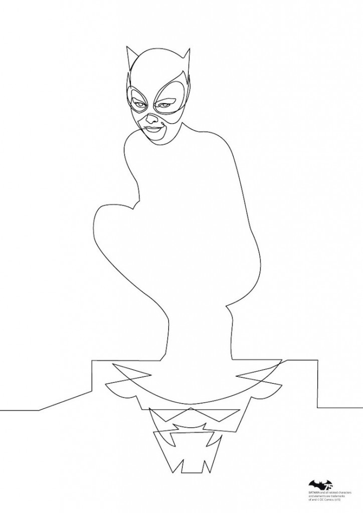 Quibe One Line Minimal Illustrations - Catwoman