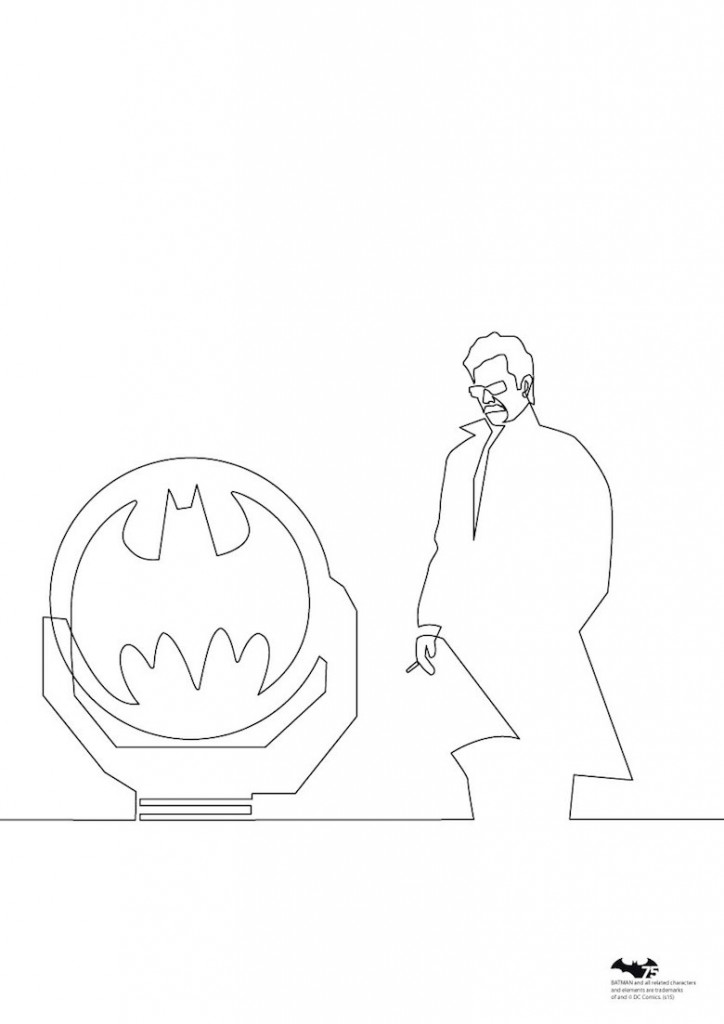 Quibe One Line Minimal Illustrations - Commissioner Gordon