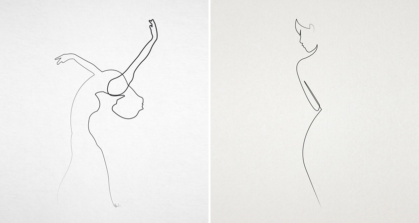 Continuous Line Drawing Quibe : Amazing one line illustrations made with a single