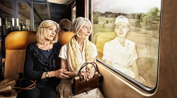 Elderly People Look At Their Younger Reflections In This Beautiful Photo Series By Tom Hussey