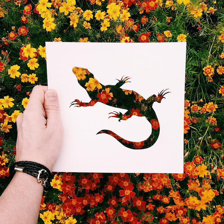 Paper cut-outs of animals filled with beautiful backdrops of nature - 13