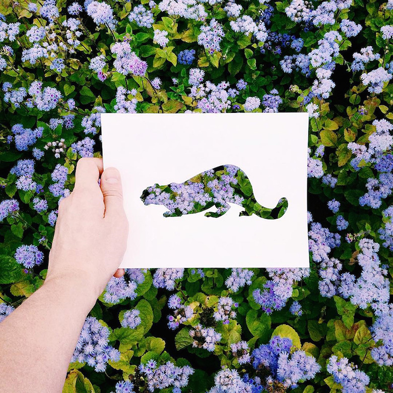 Paper cut-outs of animals filled with beautiful backdrops of nature - 14