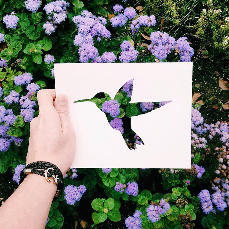 Paper cut-outs of animals filled with beautiful backdrops of nature - 2