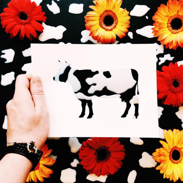 Paper cut-outs of animals filled with beautiful backdrops of nature - 22
