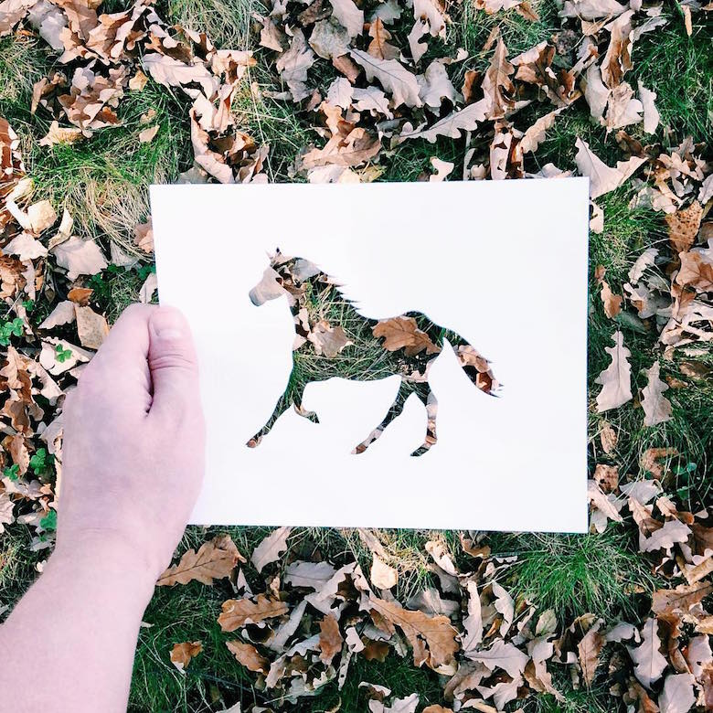 Paper cut-outs of animals filled with beautiful backdrops of nature - 4
