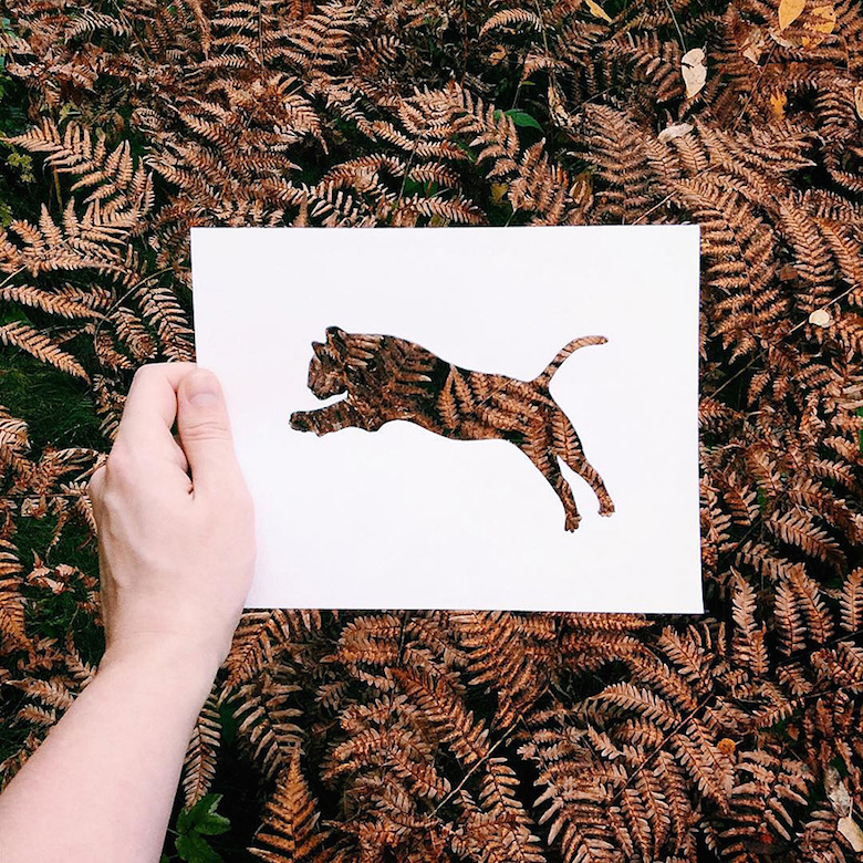 Paper cut-outs of animals filled with beautiful backdrops of nature - 5