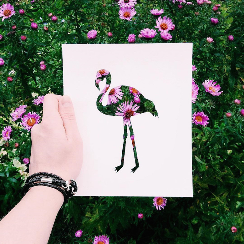 Paper cut-outs of animals filled with beautiful backdrops of nature - 7