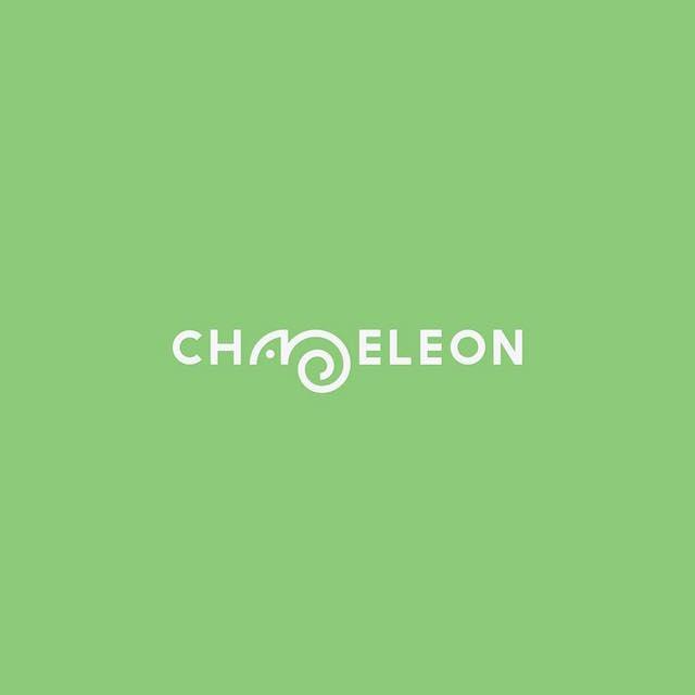 Clever Typographic Logos - Chameleon