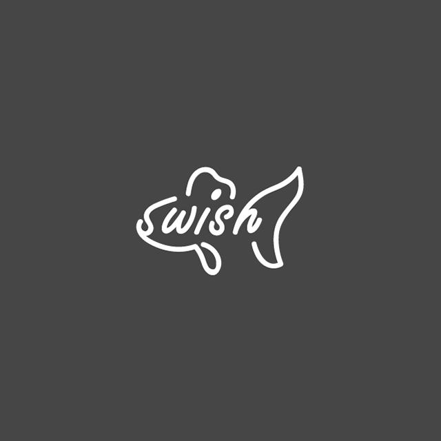 Clever Typographic Logos - Swish