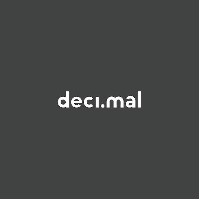 Clever Typographic Logos - Decimal