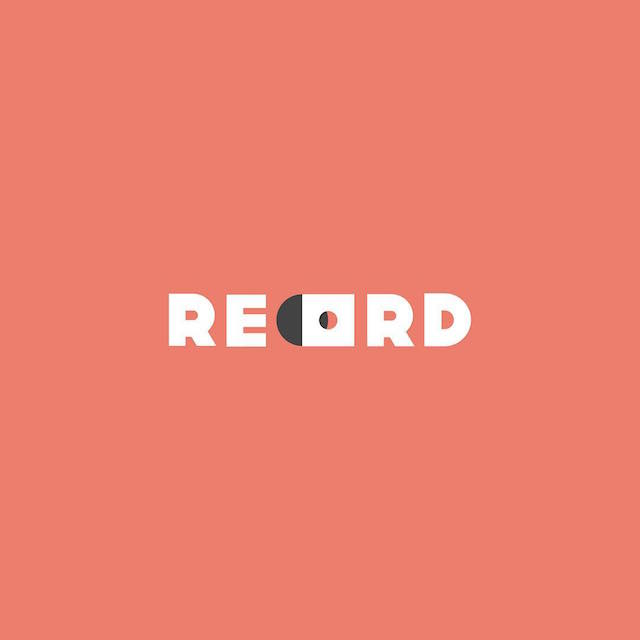 Clever Typographic Logos - Record