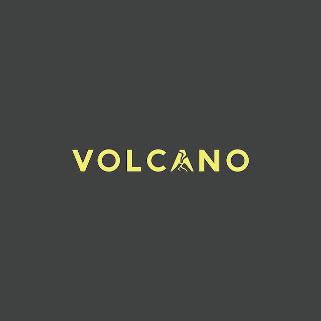 Clever Typographic Logos - Volcano