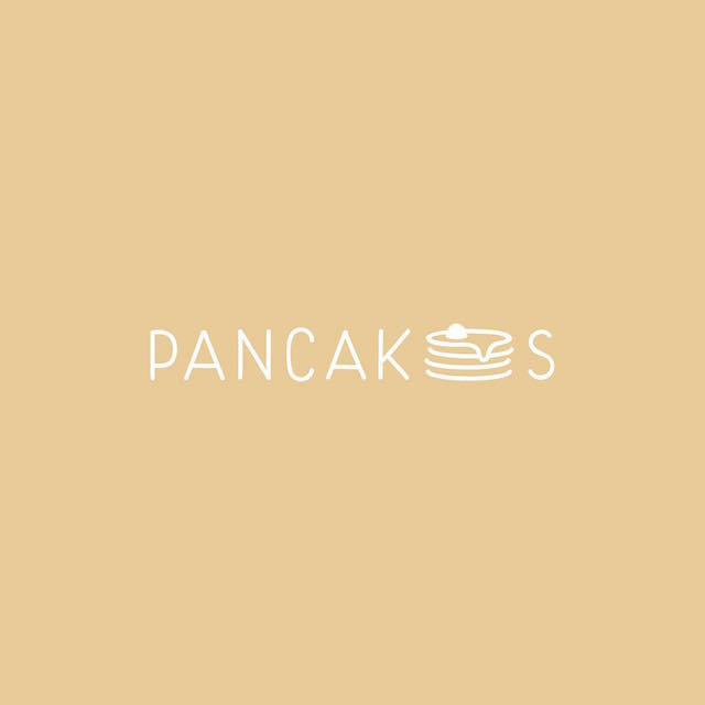 Clever Typographic Logos - Pancakes