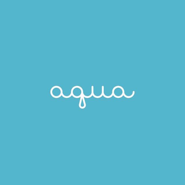 Clever Typographic Logos - Aqua
