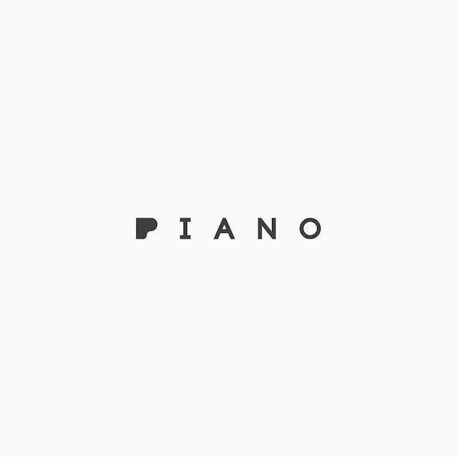 Clever Typographic Logos - Piano
