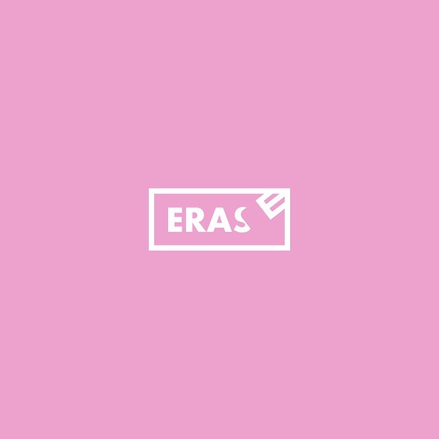 Clever Typographic Logos - Erase