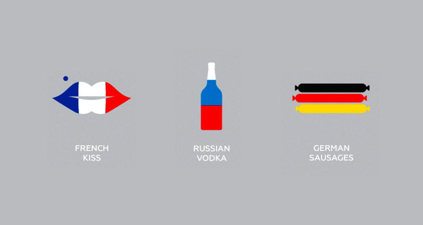 Clever Flag-Colored Icons Of Countries Based On Their ... Famous American Flag Art