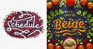 Beautiful Typographic Art Created With Food Items