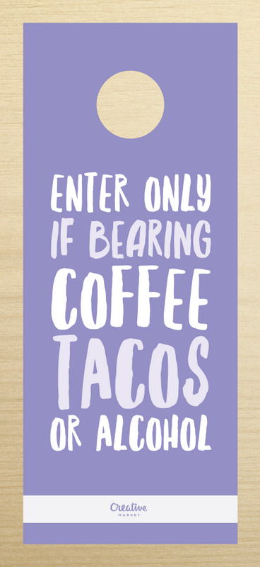 Enter only if bearing coffee, tacos or alcohol.