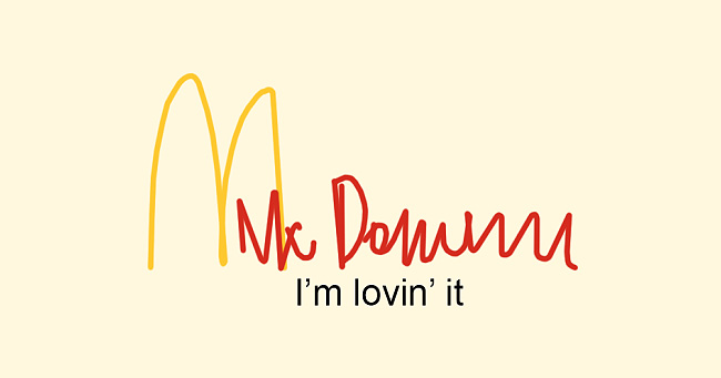 If doctors drew the McDonald's logo.