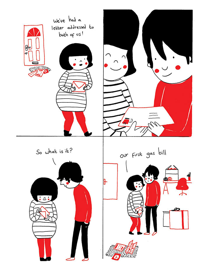 24 Heartwarming Illustrations That Show How Love Is In The  : philippa rice soppy love comics illustrations 9 from digitalsynopsis.com size 700 x 939 jpeg 104kB