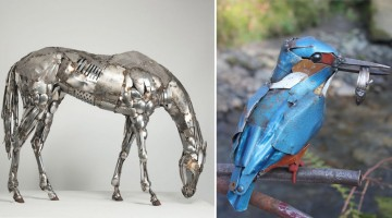 This Artist Turns Scrap Metal Into Incredible Animal Sculptures