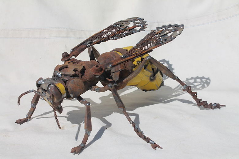 Scrap Metal Animal Sculptures - 8