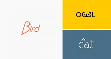 clever animal logos that show their shapes within their names - Graphic Design Names Ideas