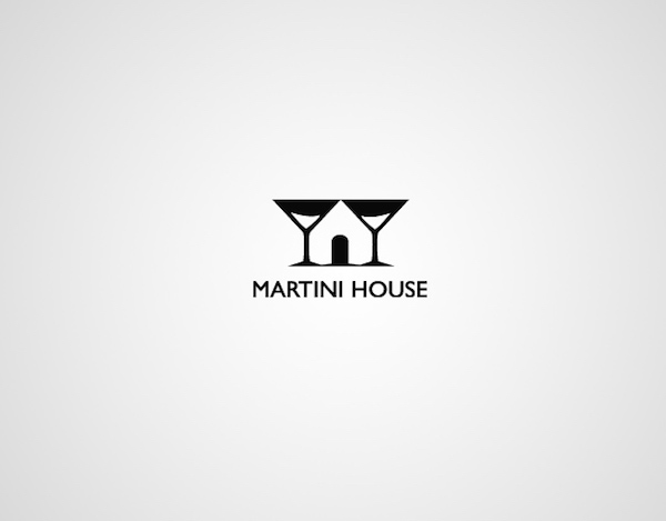 Clever and creative logos with hidden meanings and symbolism - Martini House