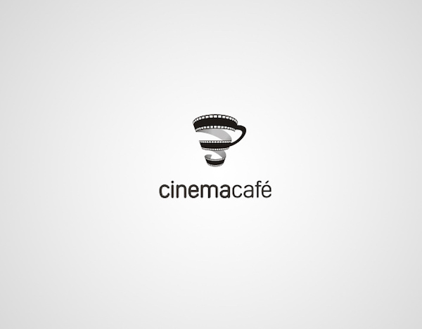 Clever and creative logos with hidden meanings and symbolism - Cinema Cafe