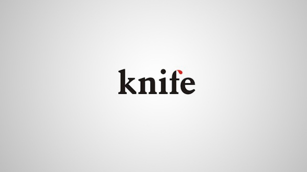 Clever and creative logos with hidden meanings and symbolism - Knife