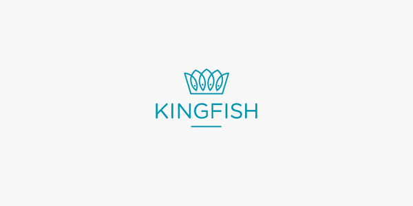 Clever and creative logos with hidden meanings and symbolism - Kingfish