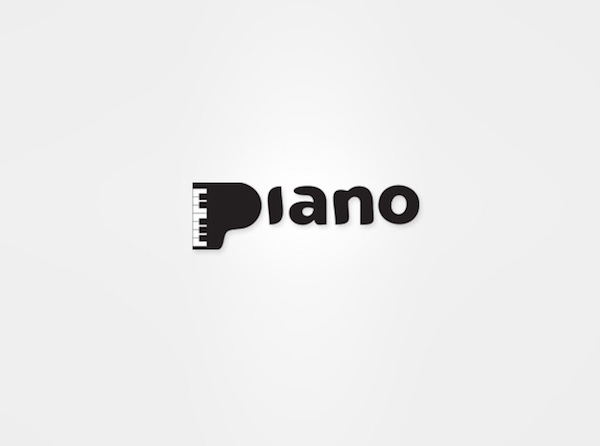 Clever and creative logos with hidden meanings and symbolism - Piano