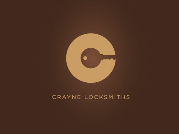 Clever and creative logos with hidden meanings and symbolism - Crayne Locksmiths