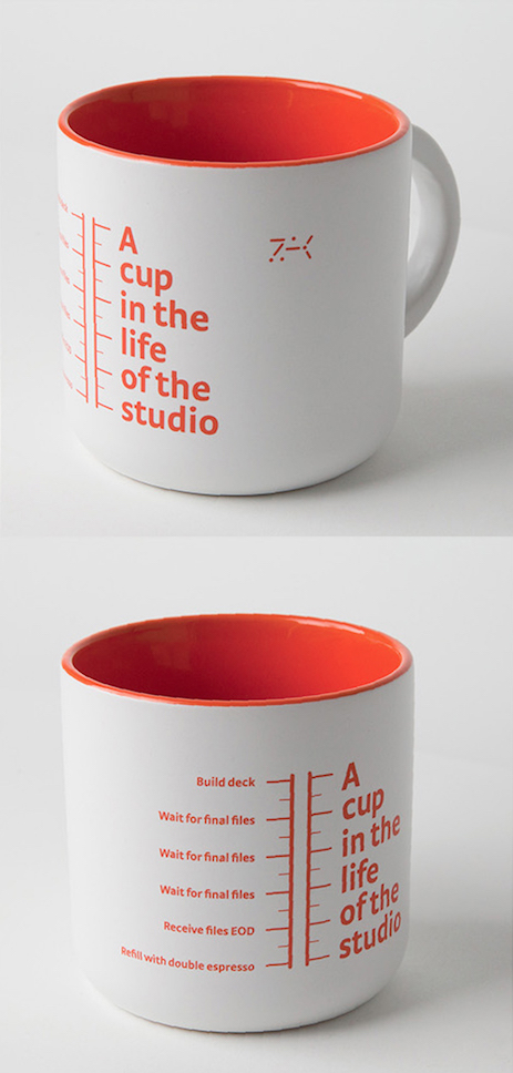 A cup in the life of the studio